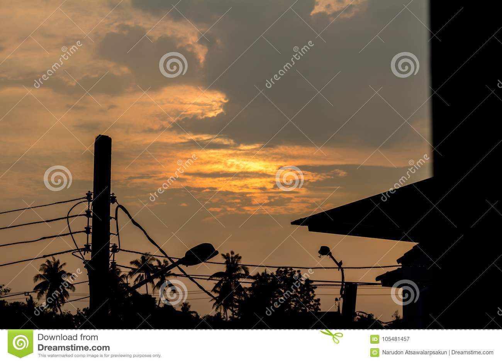 Hemel en wolken avondachtergrond