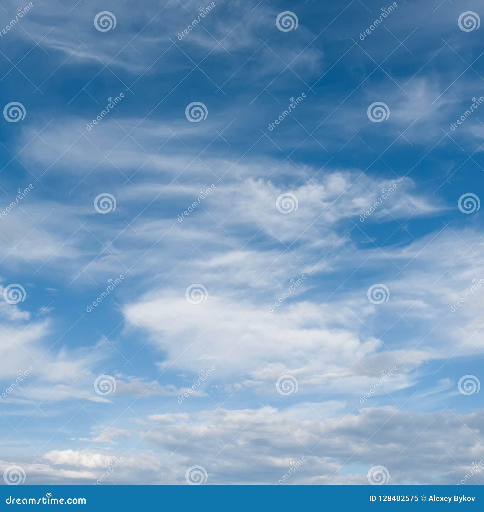 Hemel en wolken Professionele spruit zonder vogels en lawaai