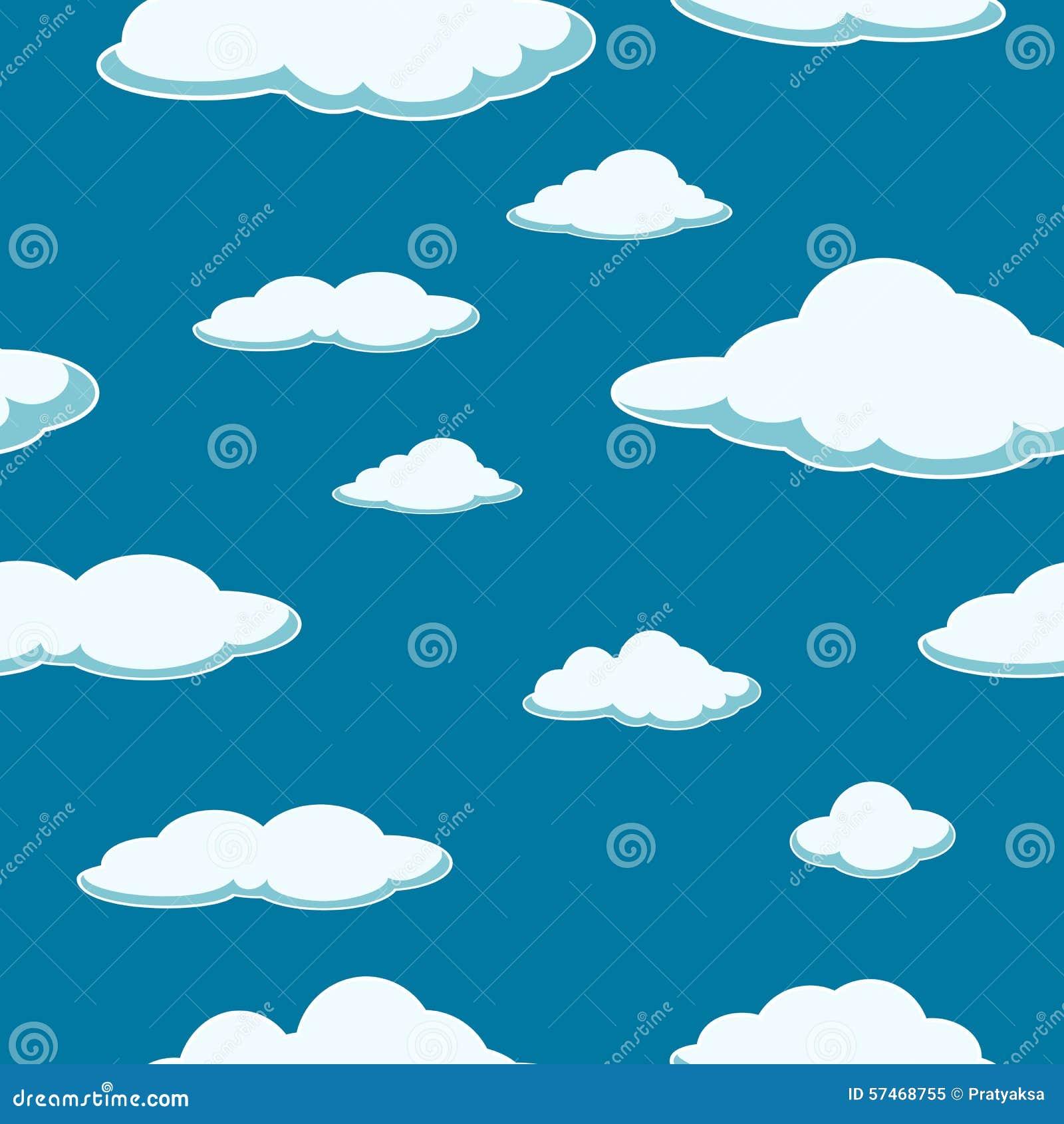 Hemel naadloze achtergrond De naadloze achtergrond van de wolk Goede dag ontruim Blauwe Wolken