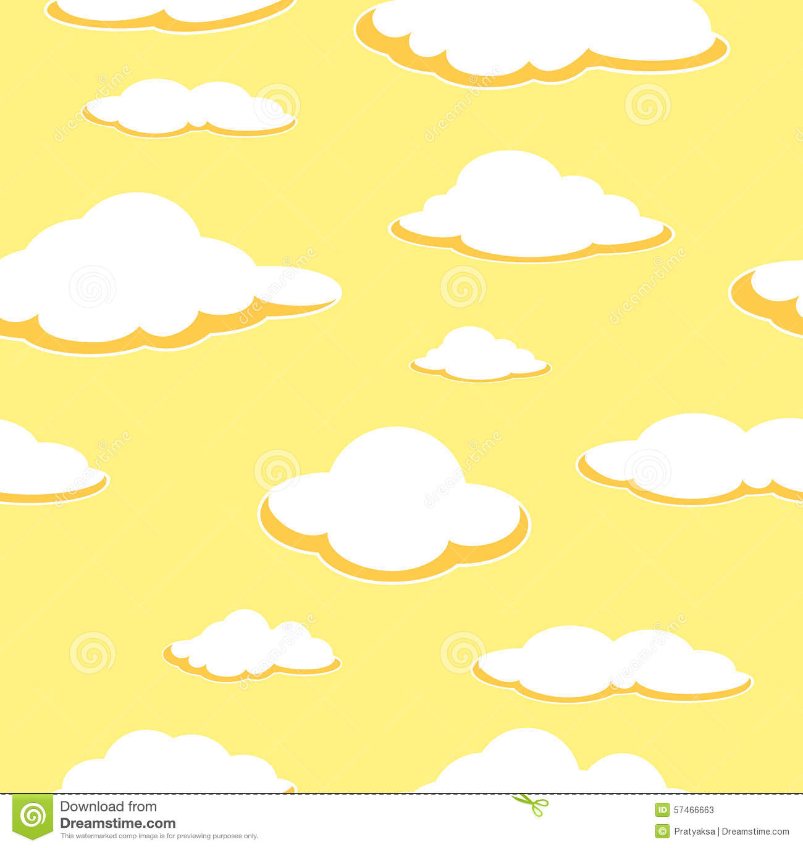 Hemel naadloze achtergrond De naadloze achtergrond van de wolk middag Oranje wolken