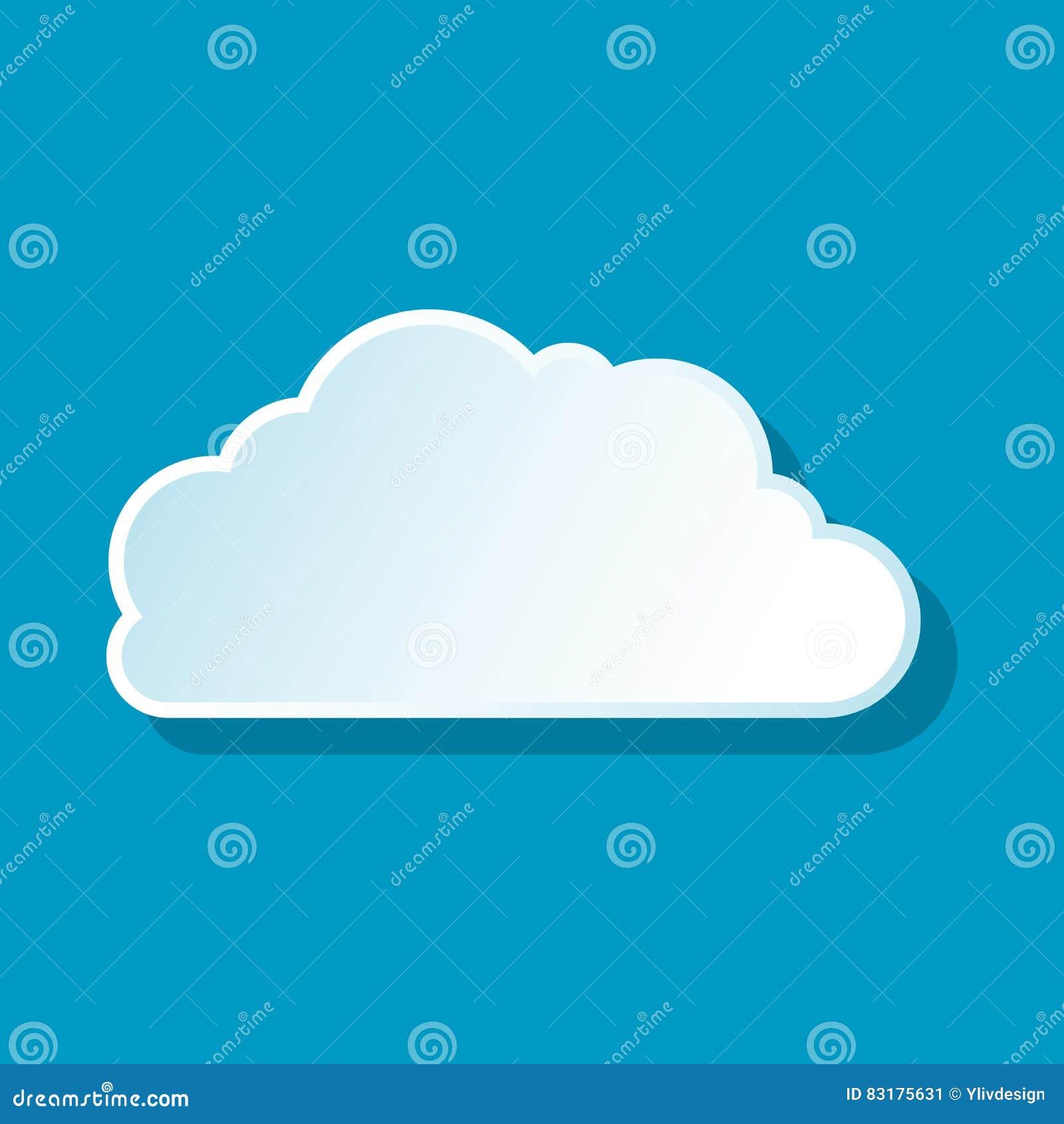 Hemels wolkenpictogram