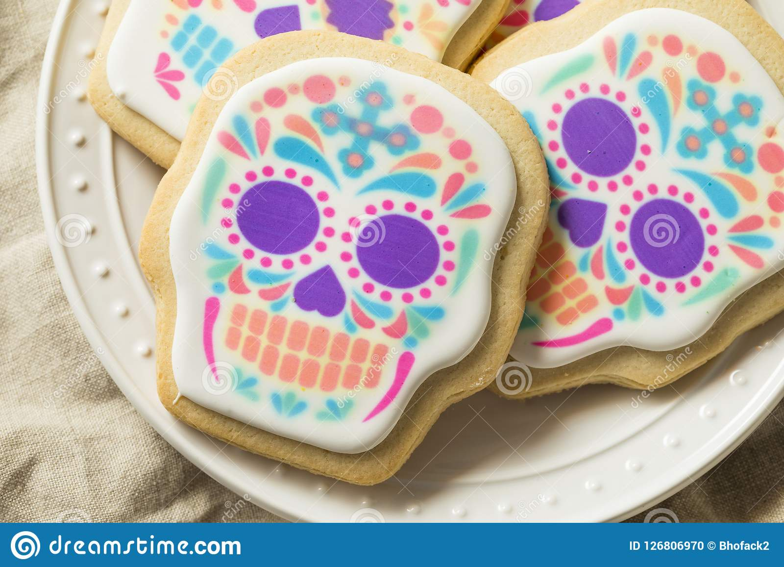 Hemlagad mexikan Sugar Skull Cookies