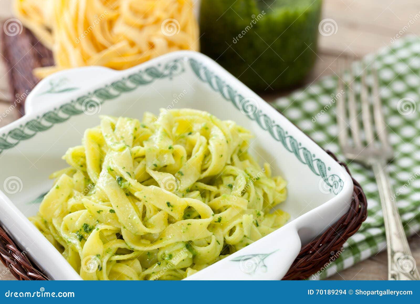 Hemlagade Papardelle med Pesto