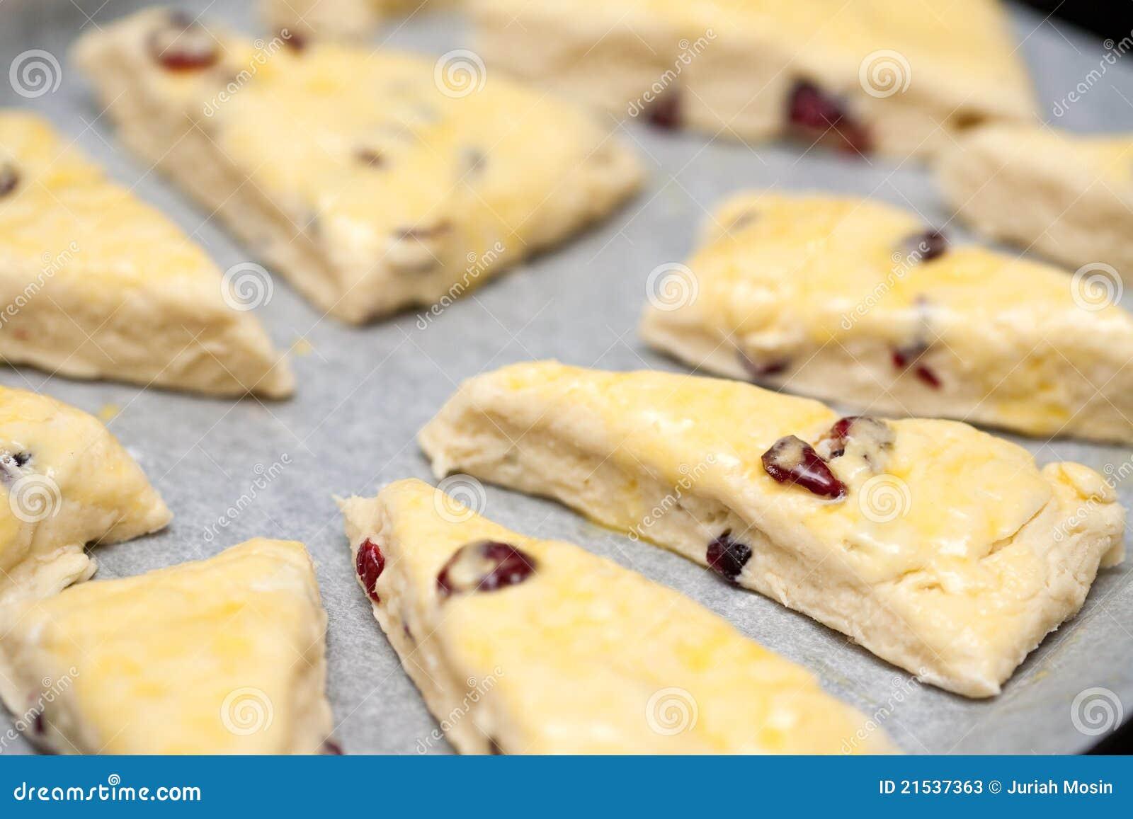 Hemlagade scones för cranberry