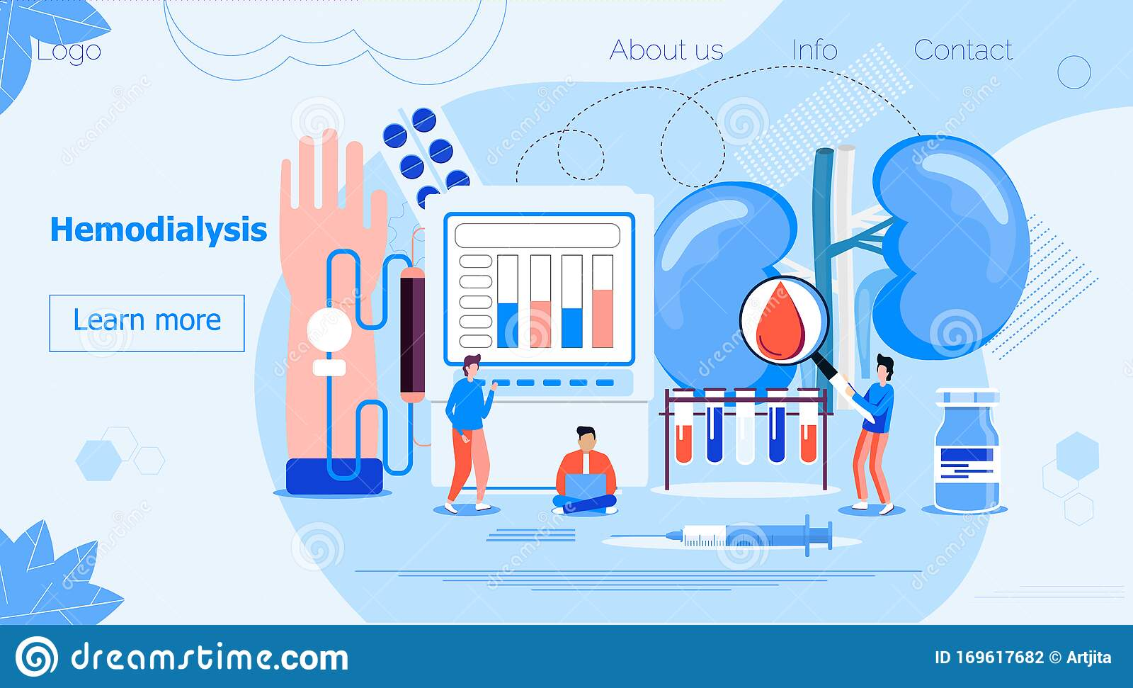 Hemodialysis Concept Vector Method Of Extrarenal Blood Purification In Acute And Chronic Renal Failure Tiny Doctors Stock Vector Illustration Of Disease Medical 169617682