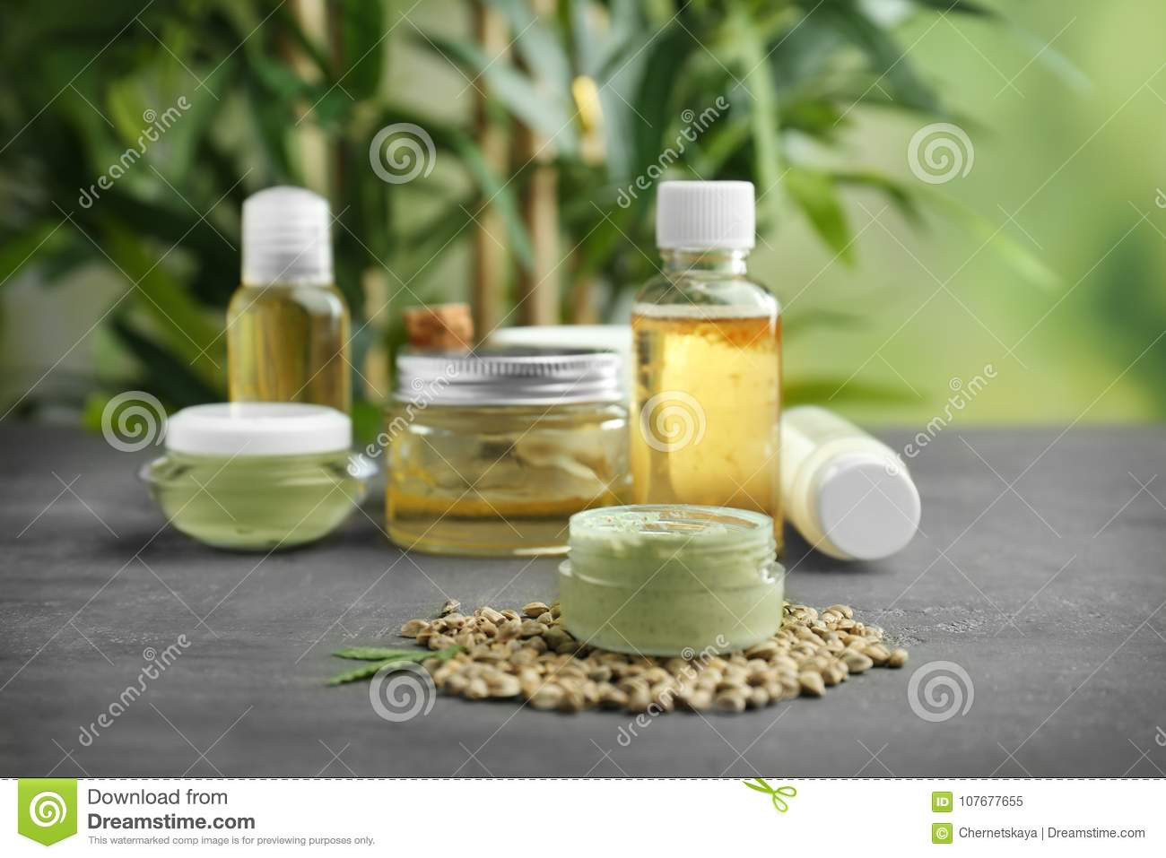 Hemp cosmetic products and seeds