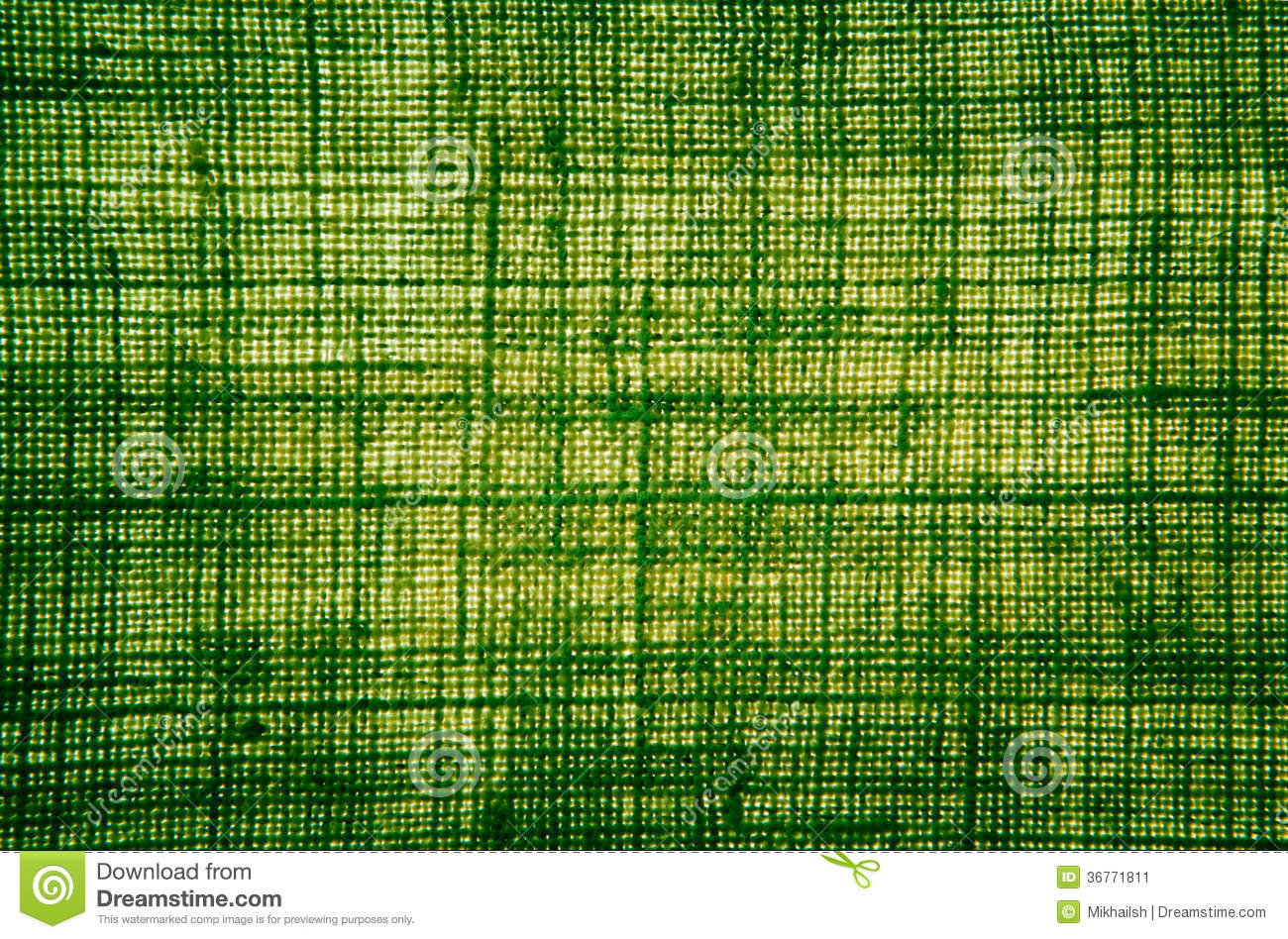 Hemp Fiber Cloth Texture In Green Color With Backlit Stock