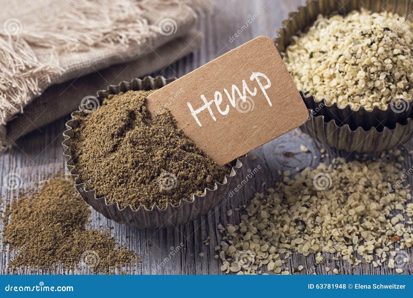 Hemp flour and seeds