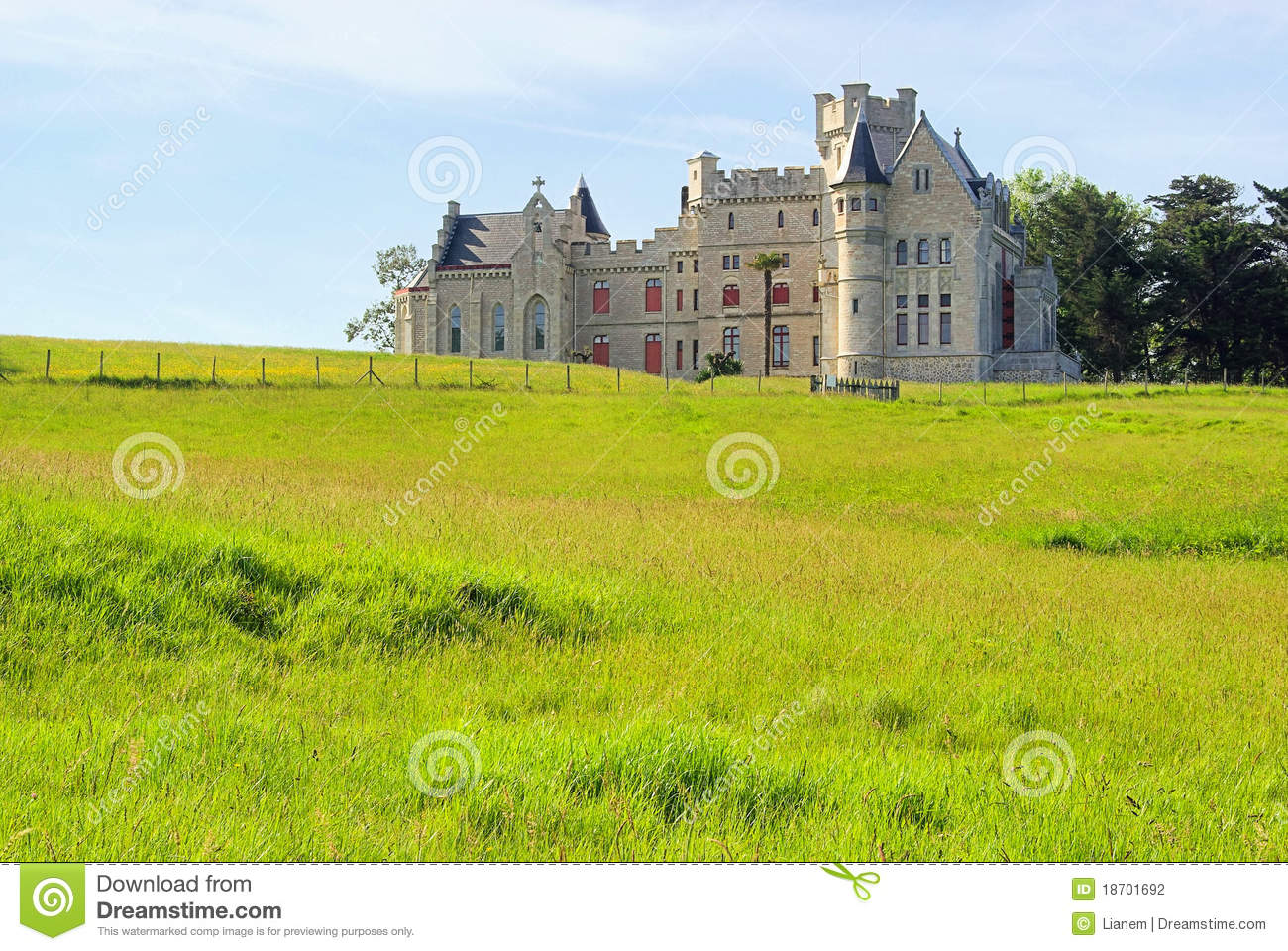 Hendaye chateau d abbadie stock photography image 18701692 for Hendaye france