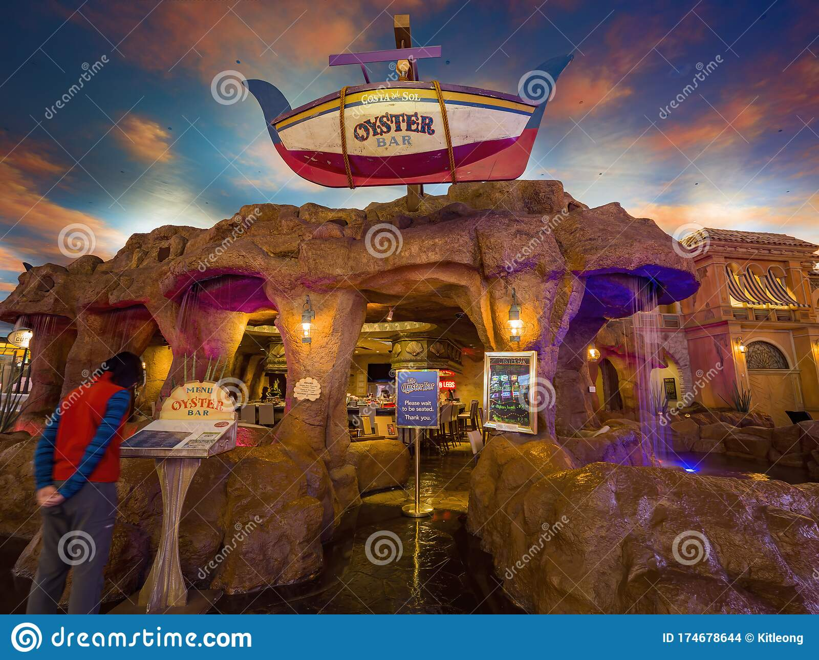 Oyster Bar Of The Sunset Station Hotel And Casino Editorial Stock Image Image Of America Indoor 174678644