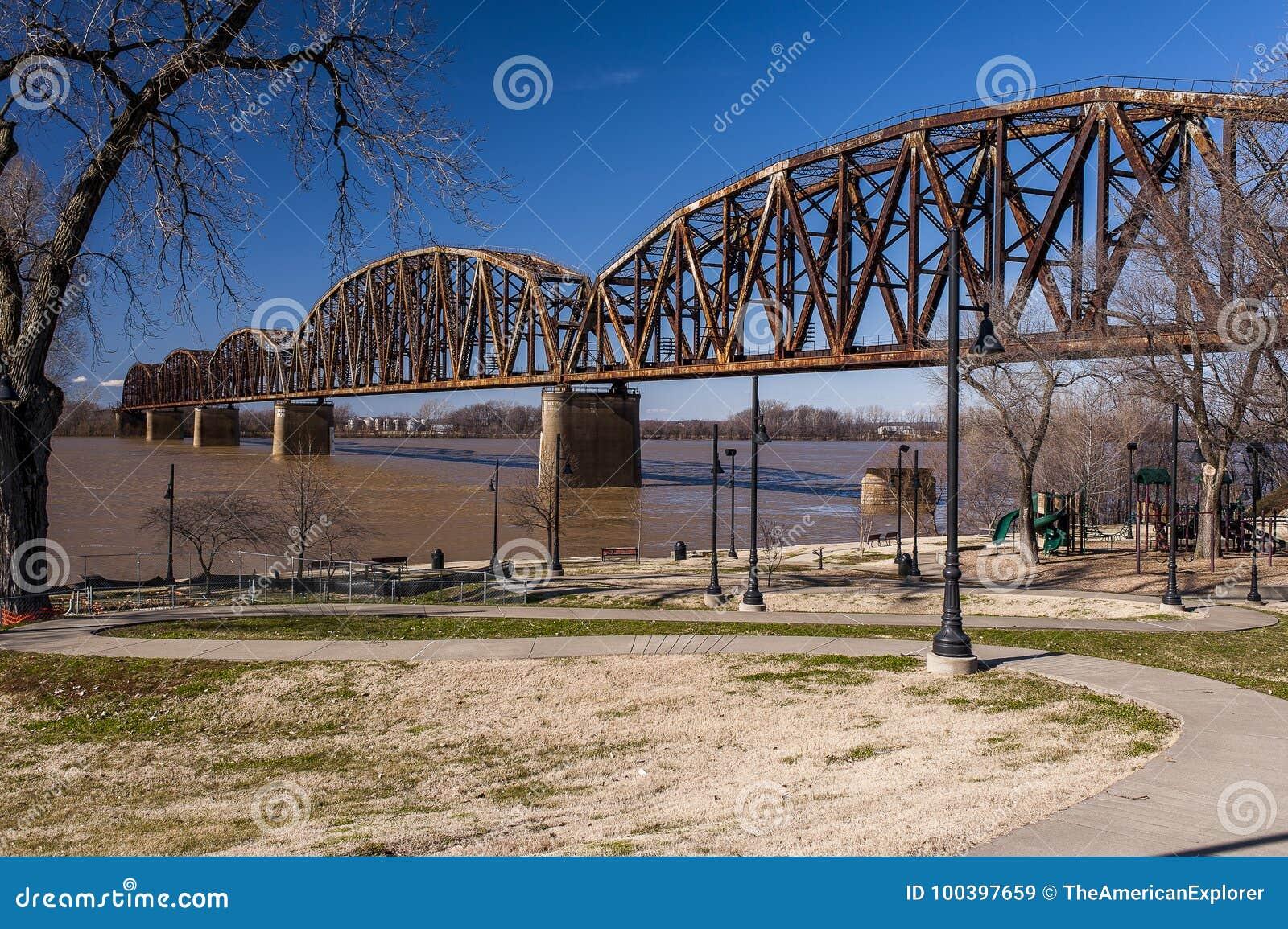 Henderson linii kolejowej most rzeka ohio, Kentucky & Indiana -,