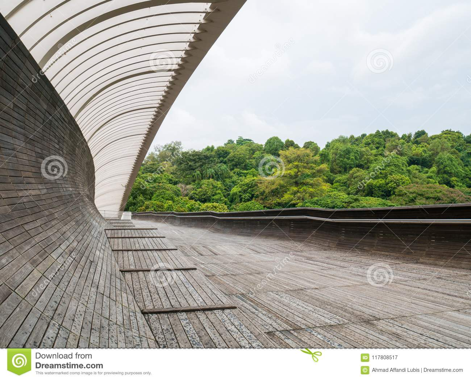 Henderson Waves Bridge Singapore Pedestrian Bridge Stock