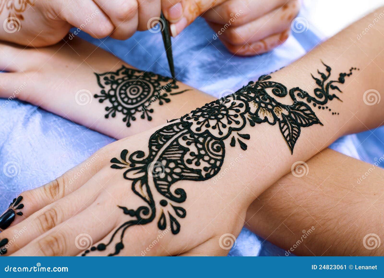 comment appliquer henné mains