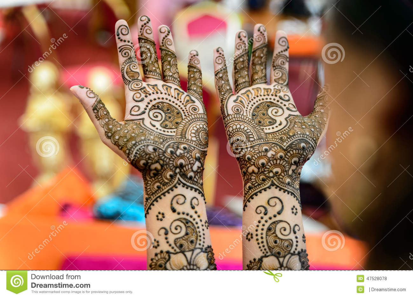 Henna Art On Hands