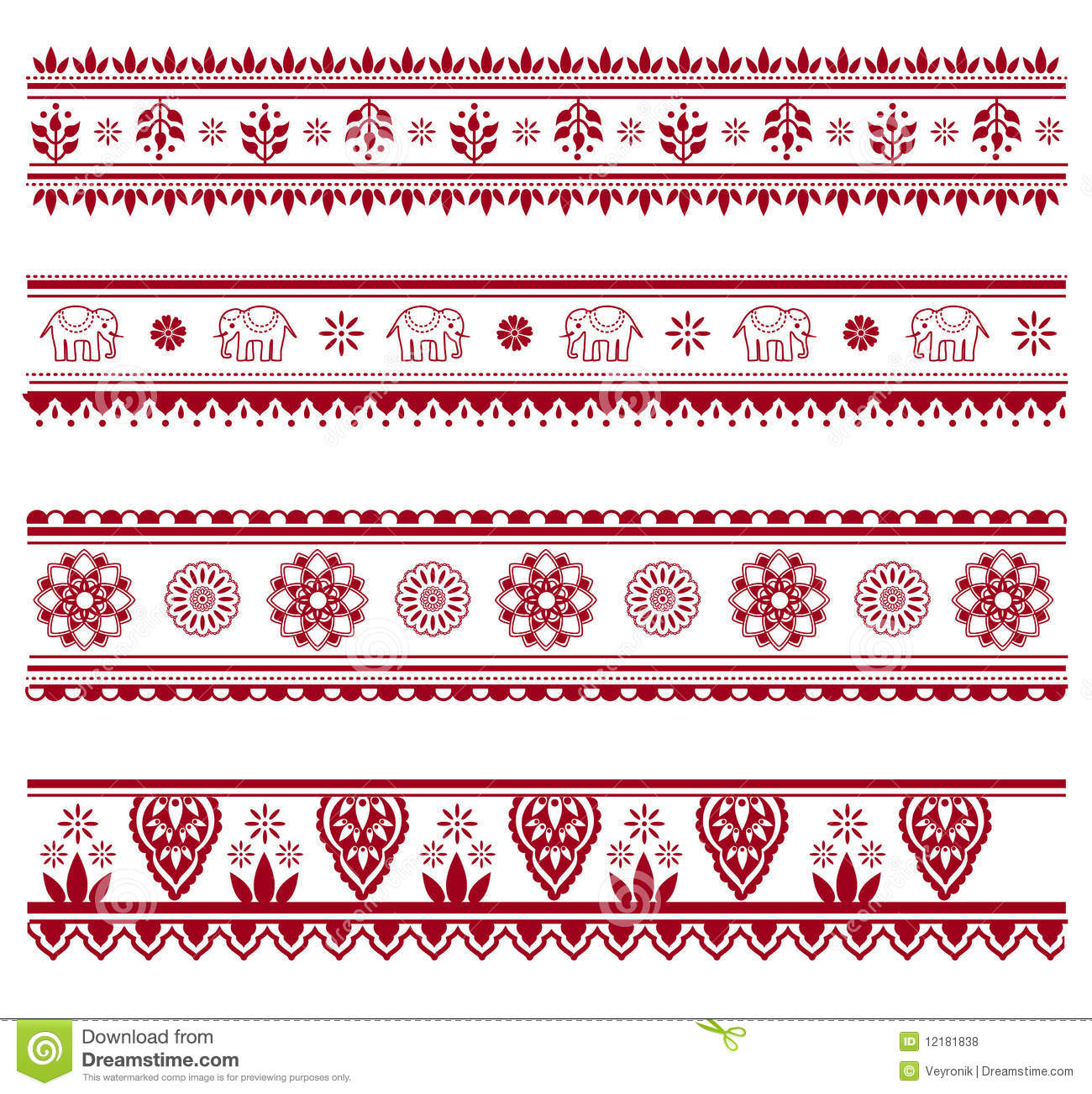 henna borders royalty free stock photos image 12181838 Repeating Poly Pattern Vector Repeating Pattern Design Patterns