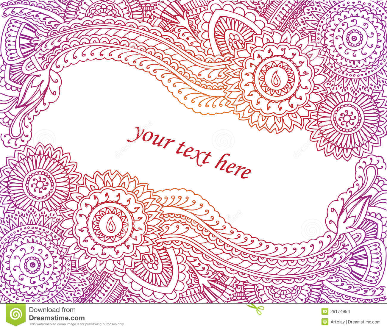 henna card stock images   image 26174954