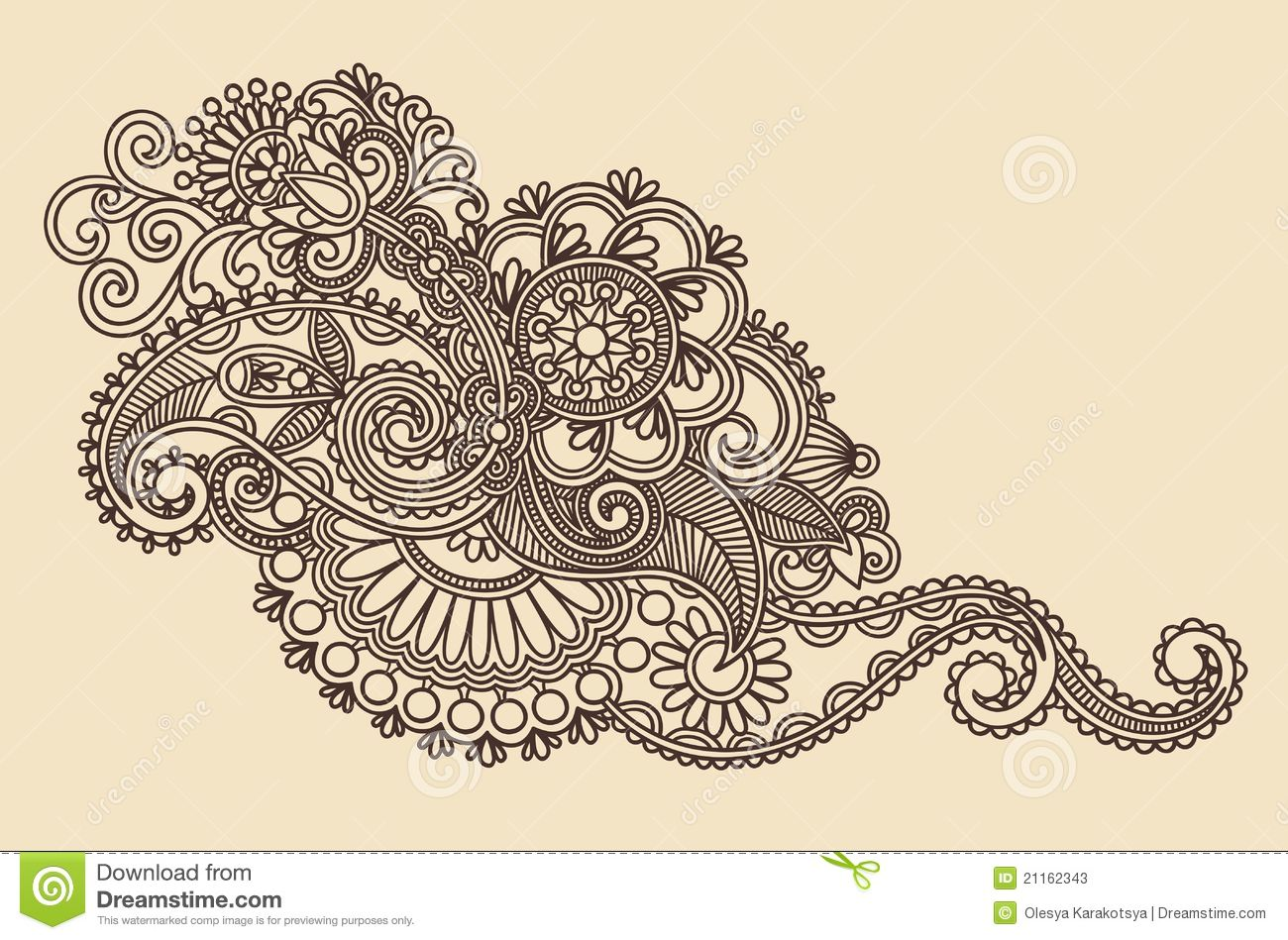 Henna Design Element Stock Vector Illustration Of Ornamental 21162343