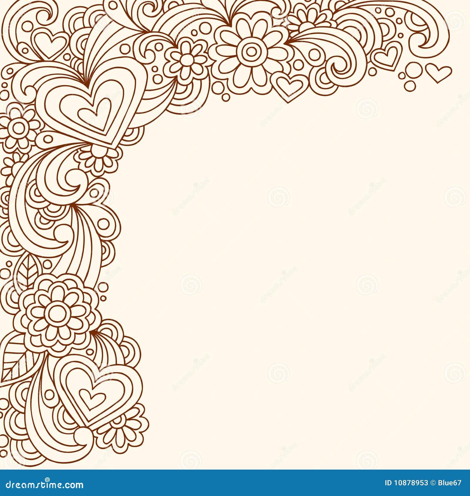 Henna Doodle αφηρημένο διάνυσμα σχεδίου