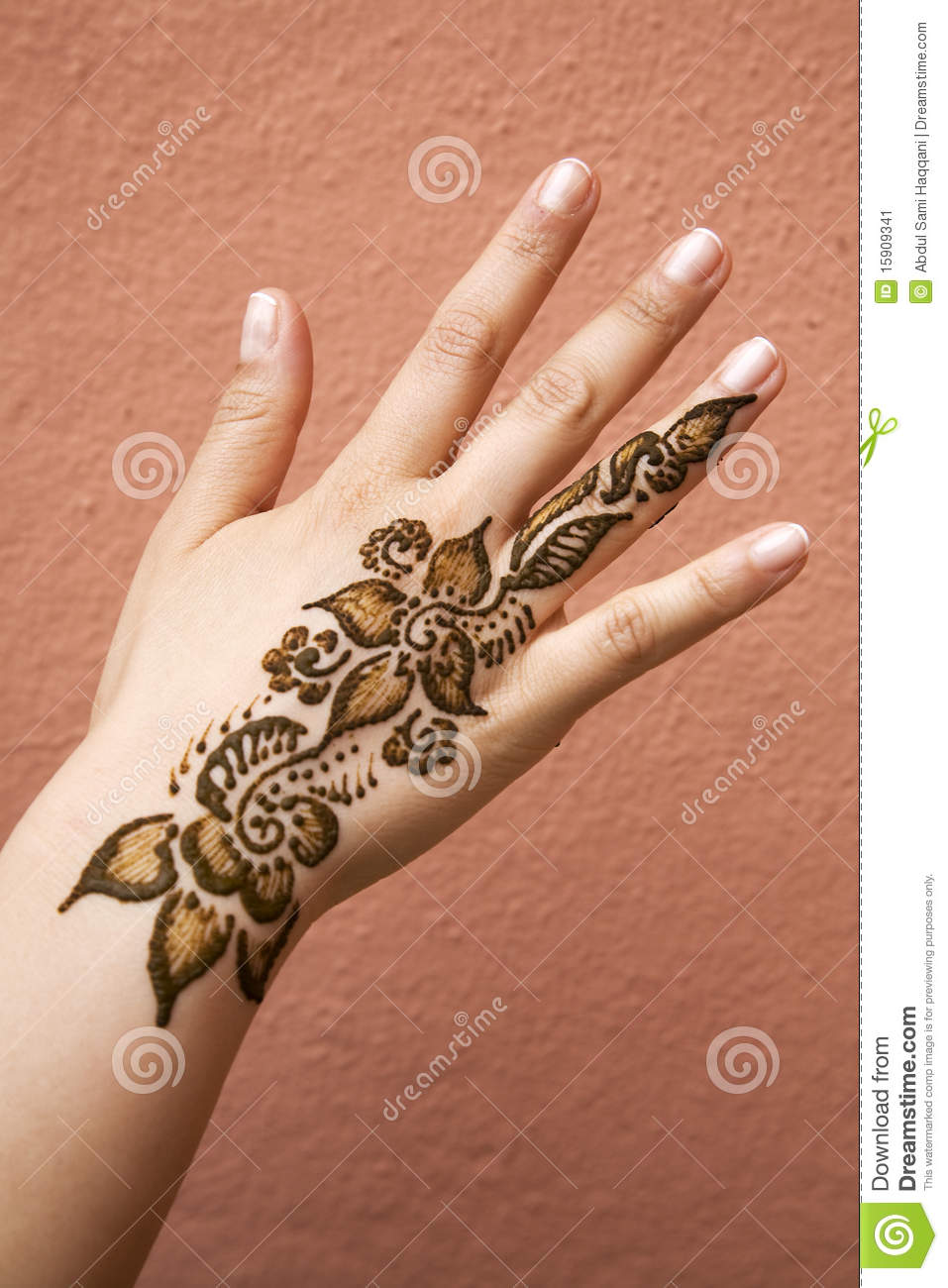 Henna On Hand Stock Image Image Of Heavy Ethnic Adornment 15909341