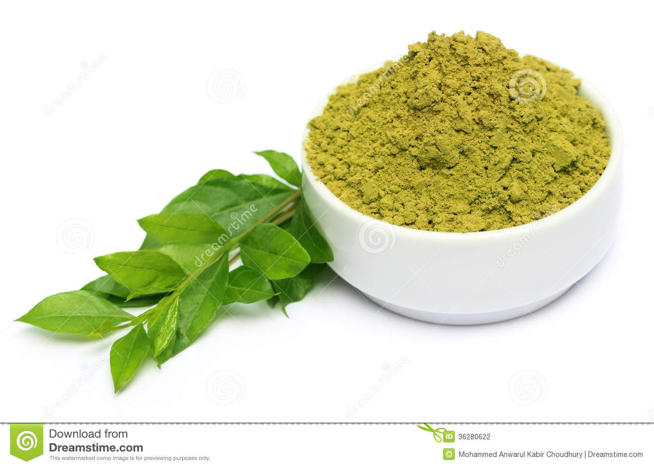 Henna Leaves With Powder Stock Photography  Image 36280622