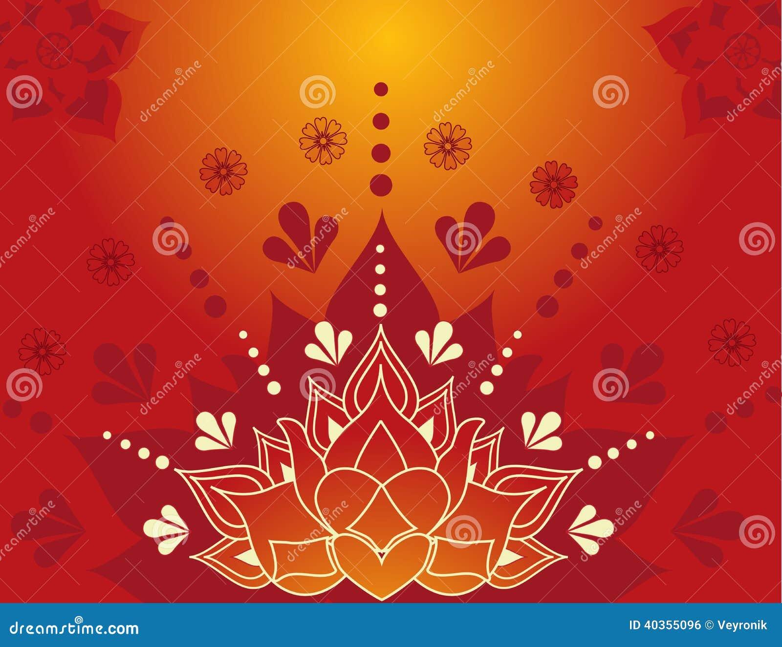 Henna Lotus Stock Vector  Image 40355096