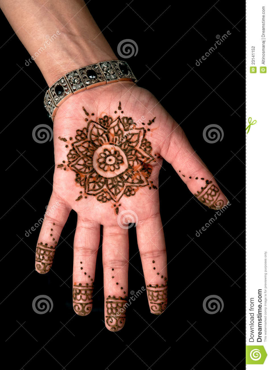 Henna mehendi tattoo body art 01 stock photography for Henna body tattoo
