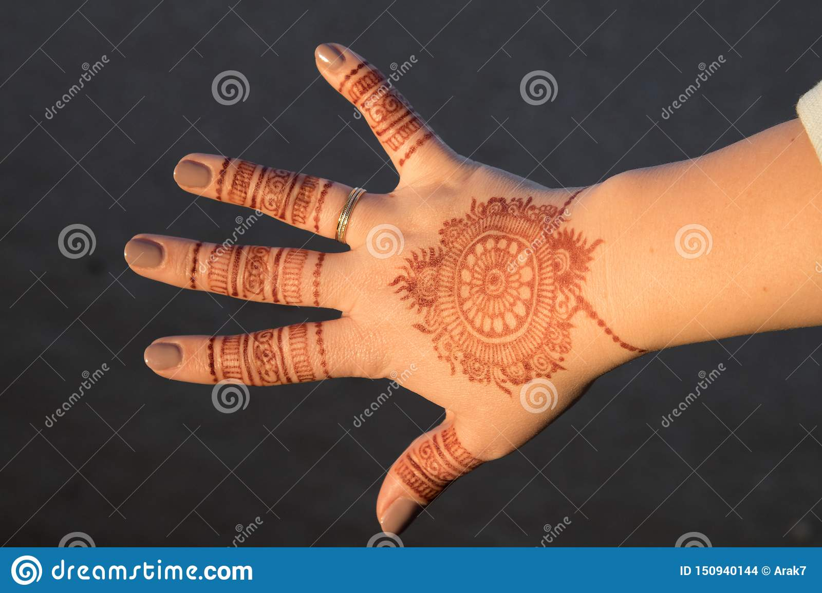Henna Mehndi A Form Of Body Art From Ancient India Editorial Stock Image Image Of Ceremony Matrimony 150940144