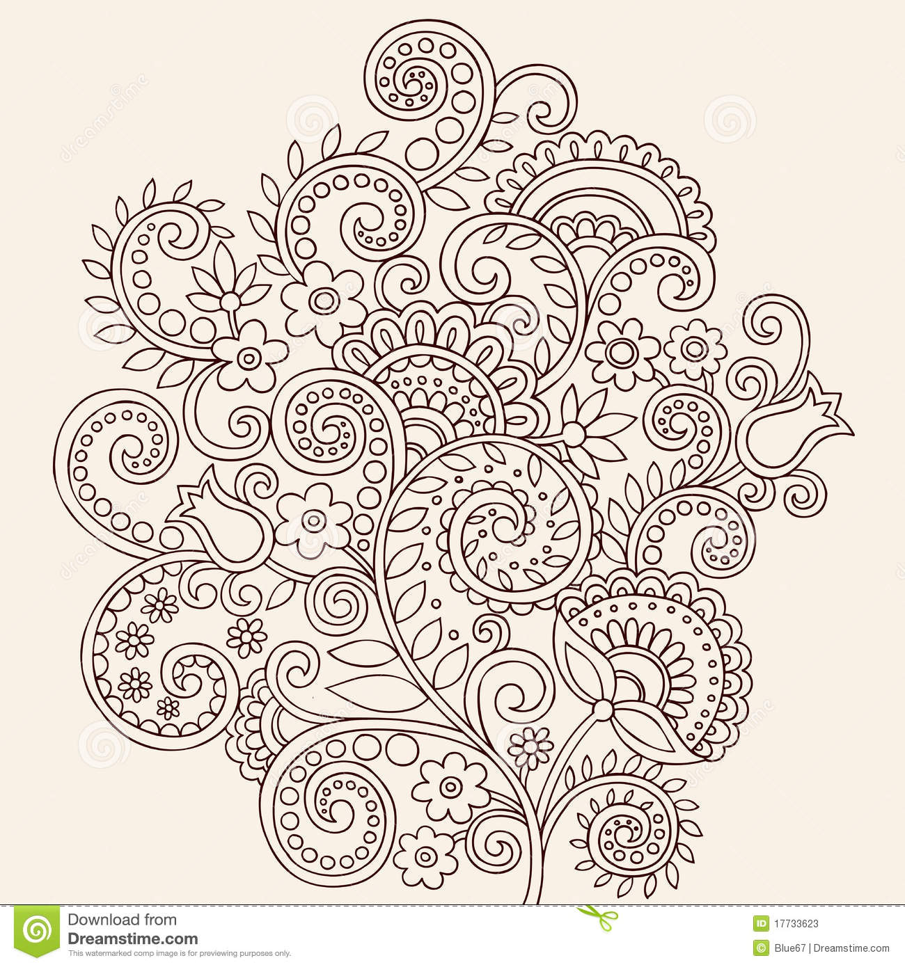 Mehndi Stock Illustrations – 11,597 Mehndi Stock Illustrations ...