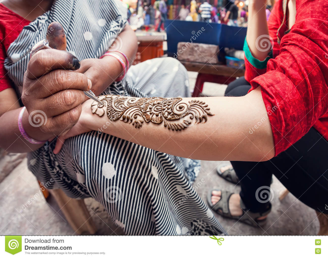 Henna Painting In India Stock Image Image Of Main Hindu 75490407