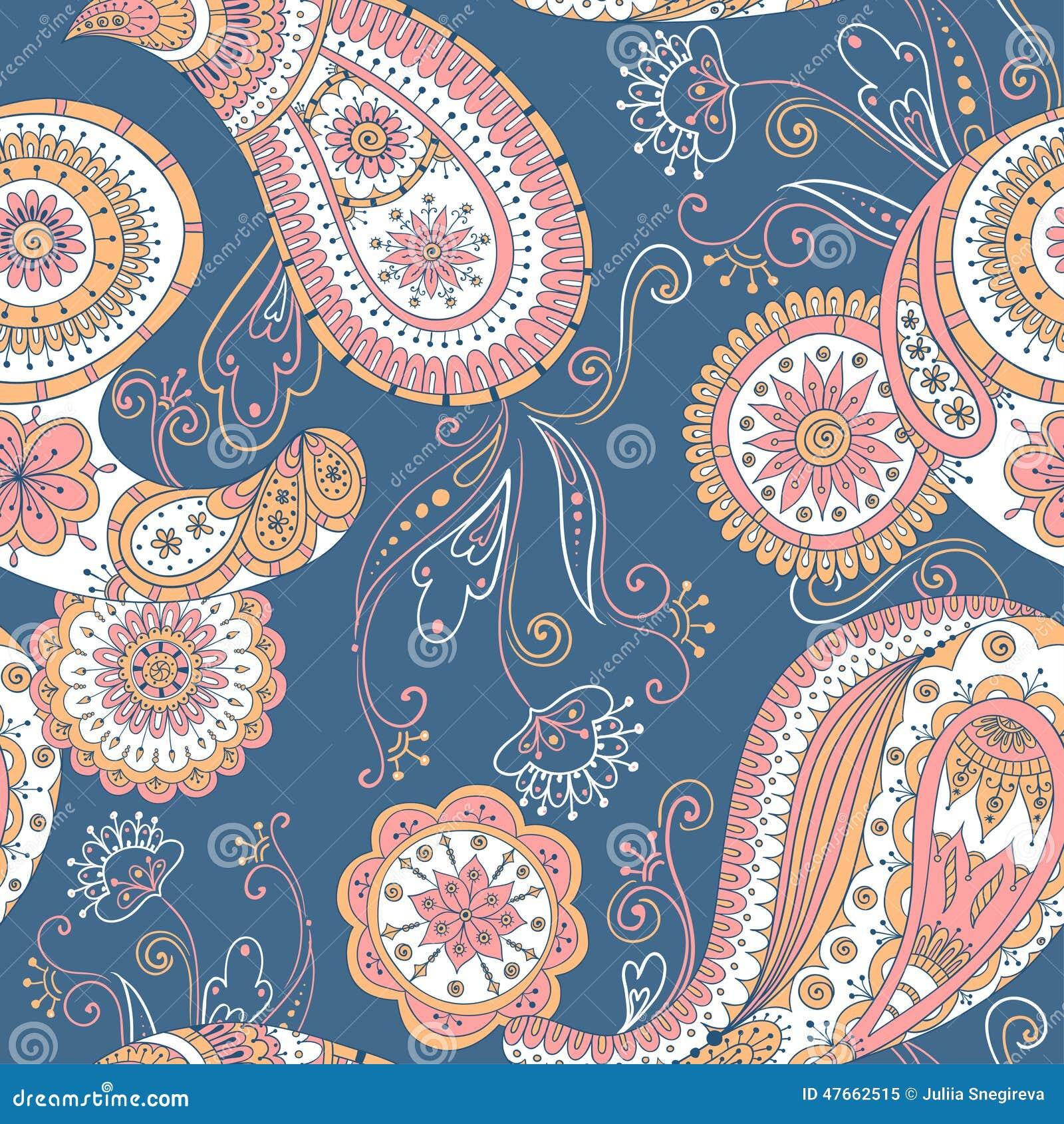 Henna paisley mehndi doodles asian design pattern stock vector image 47662515 - Asian design ...