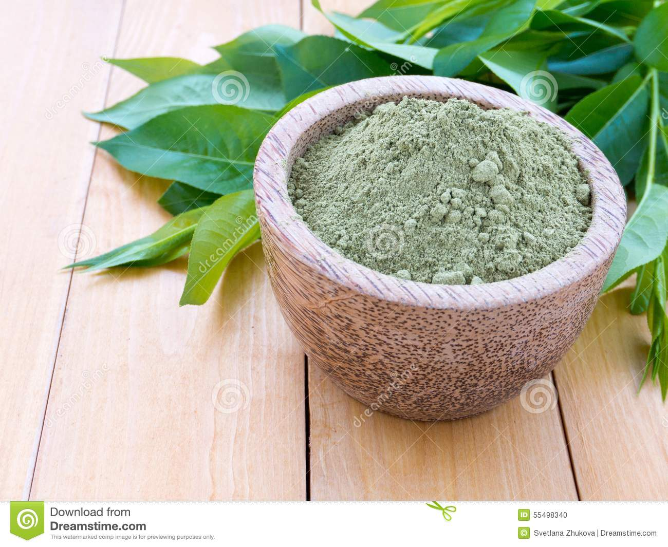 Henna Safe Hair Dye Powder Stock Photo Image Of Powder 55498340