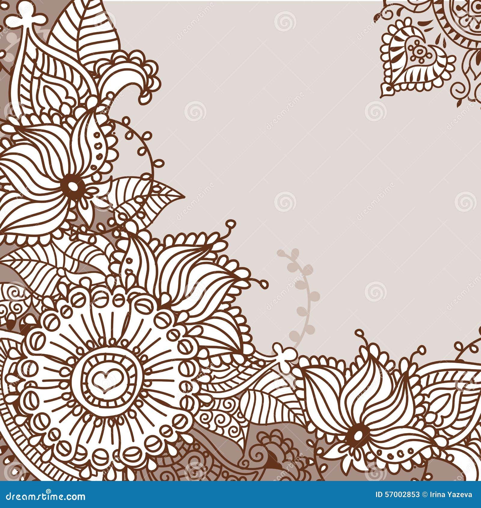 Henna Tattoo Doodle Elements Vector Set Stock Vector Illustration