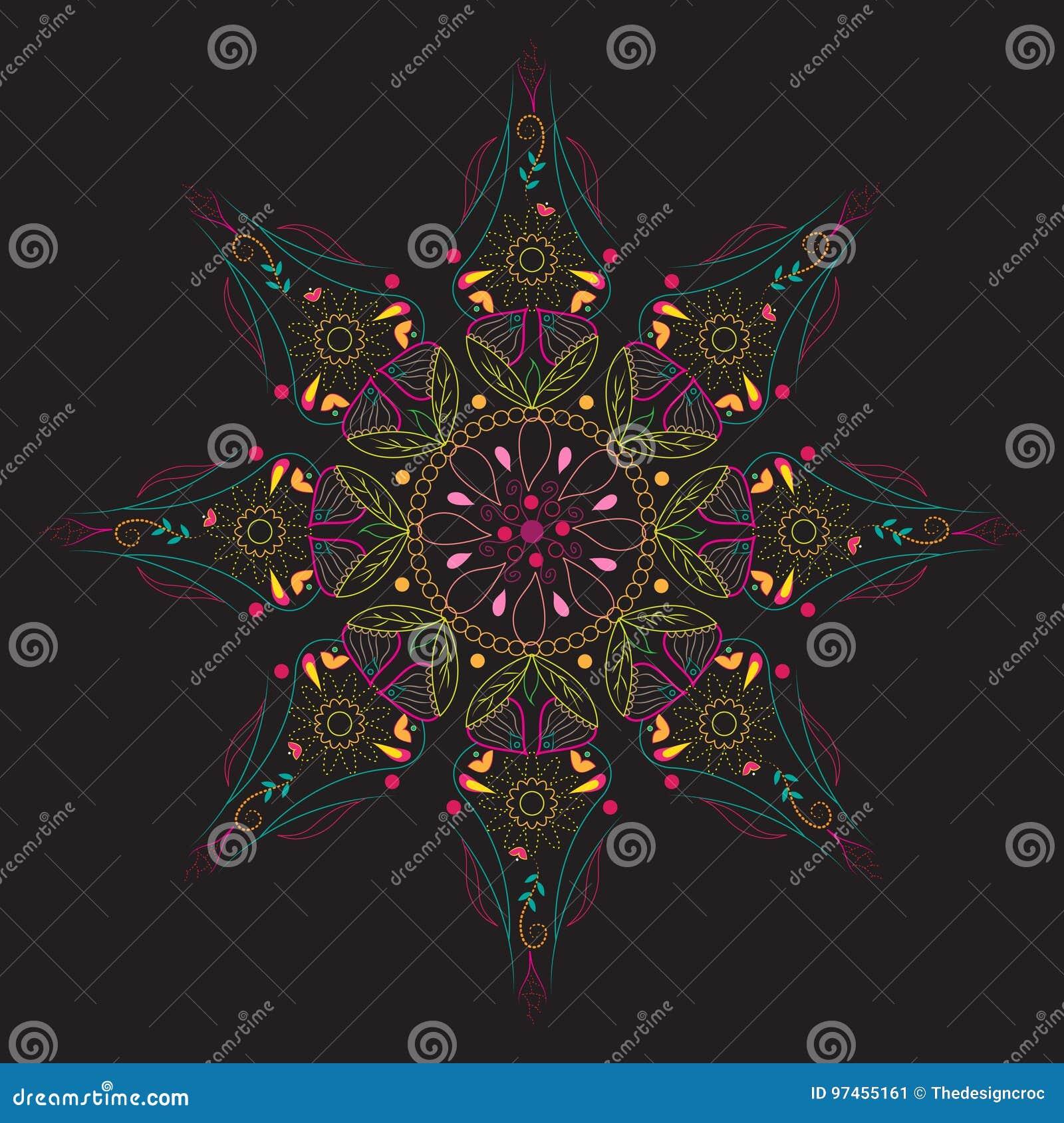 Henna Art Design Background