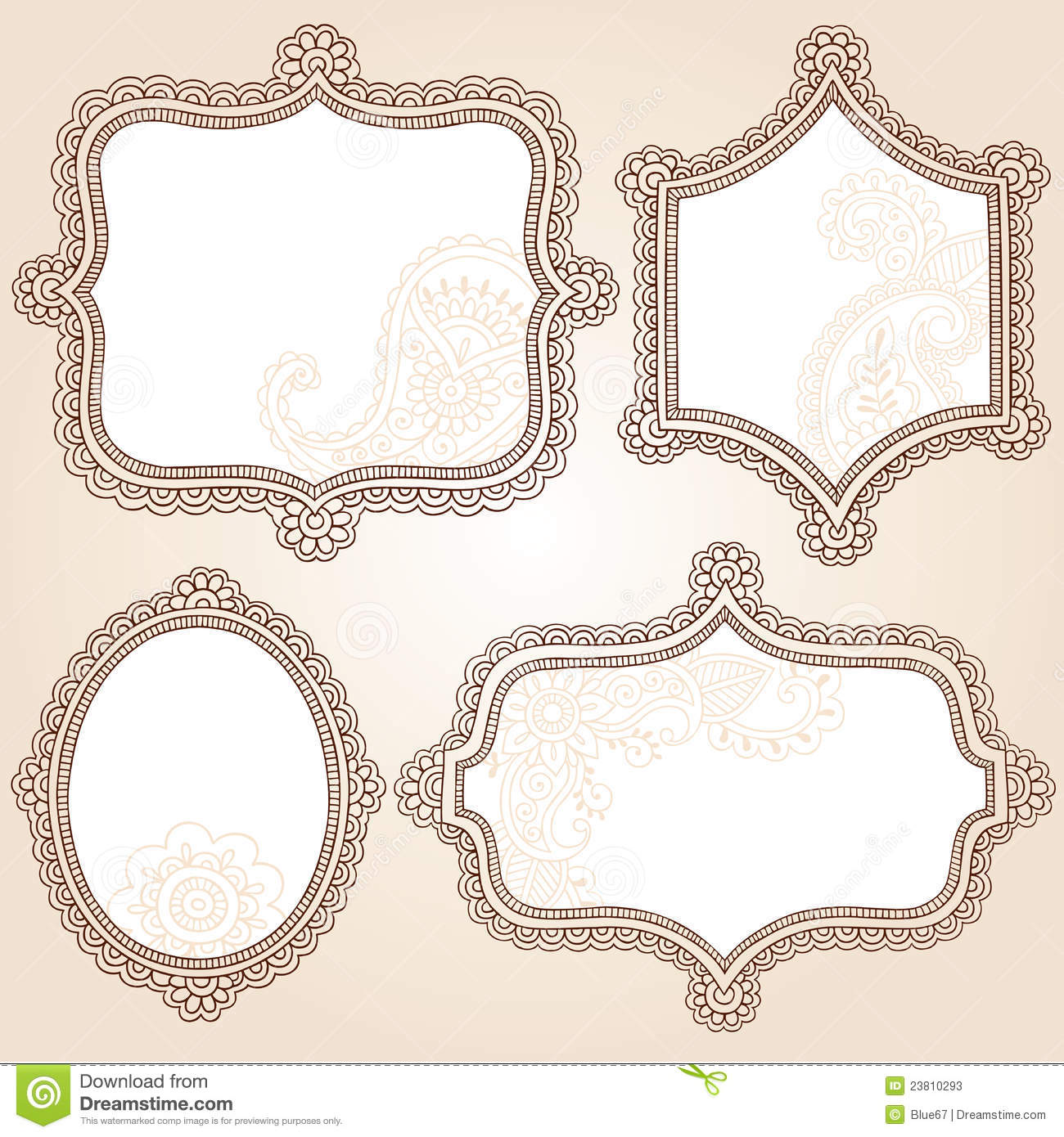 simple frame tattoo. Plain Simple Download Henna Tattoo Flower Frames Doodle Vector Design Stock   Illustration Of Scroll Ornamental And Simple Frame