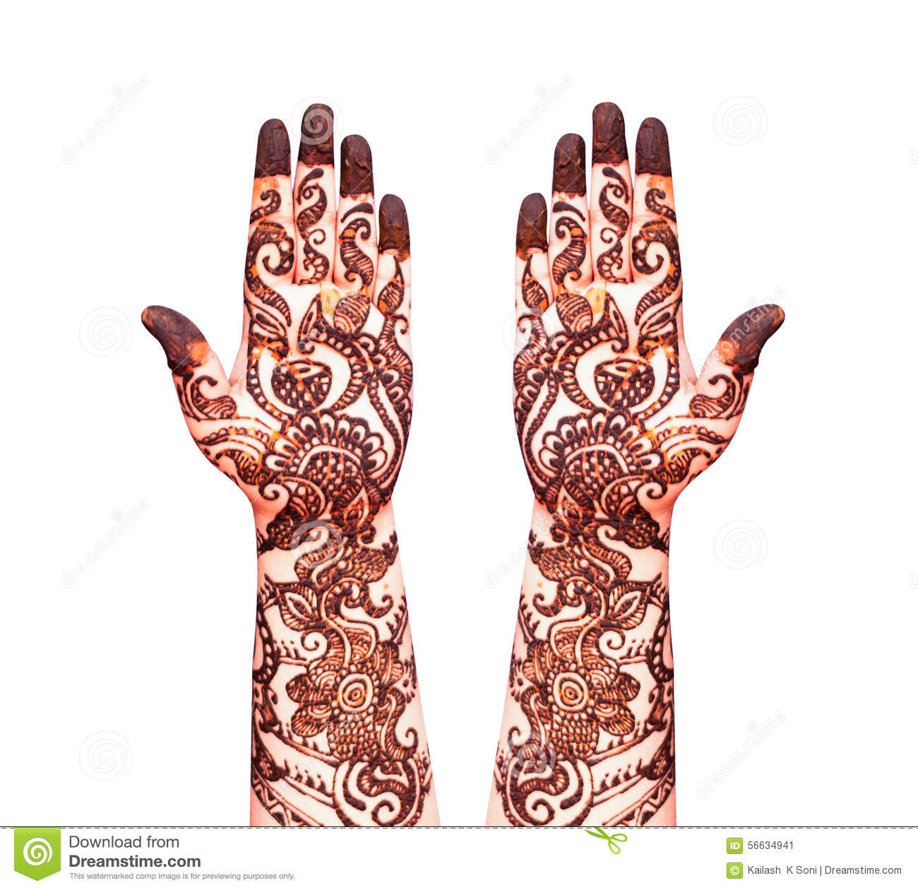 Henna Tattoo Stock Image Image Of Parlor Henna Indian 56634941