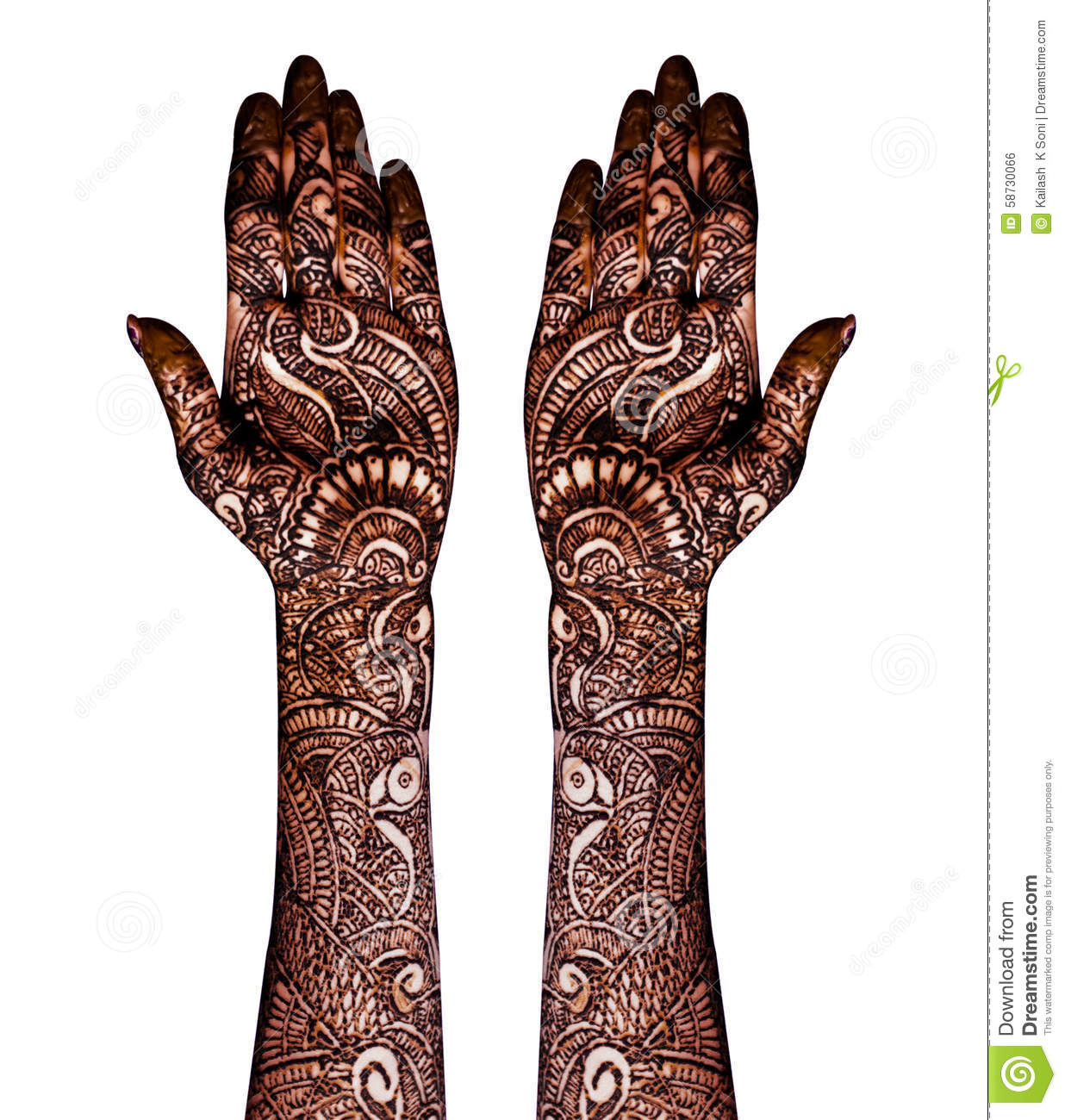 Henna Tattoo Stock Photo Image Of Design Black Parlor 58730066