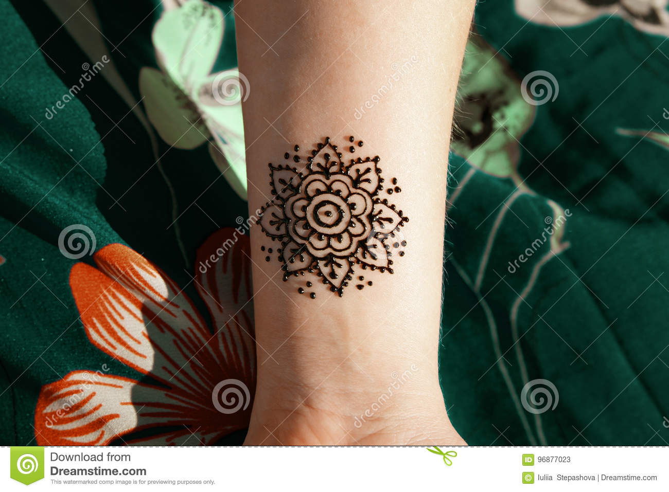 Henna Tattoo Mehendy Drawing Stock Image Image Of Brown Tradition