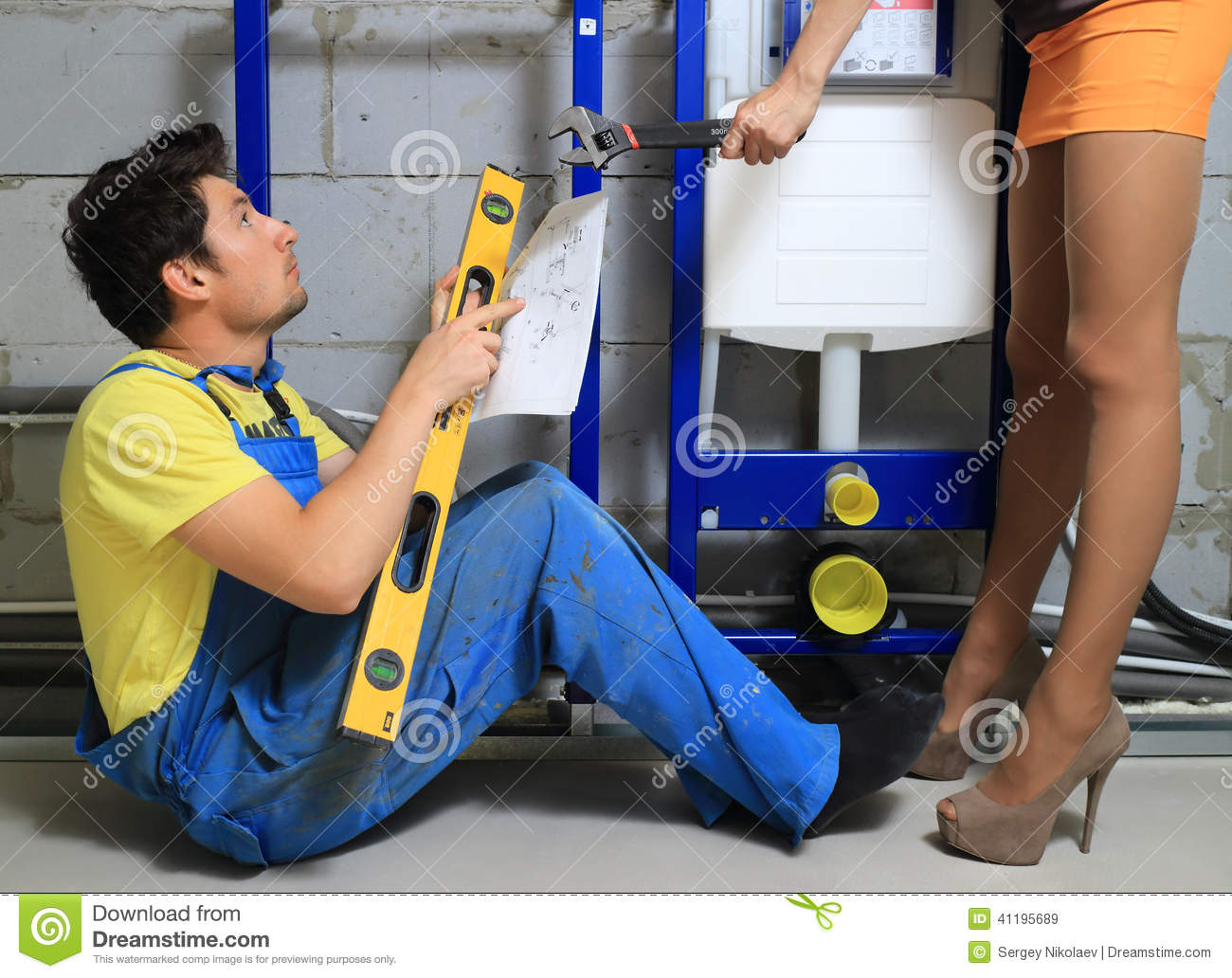 Plumber with housewife