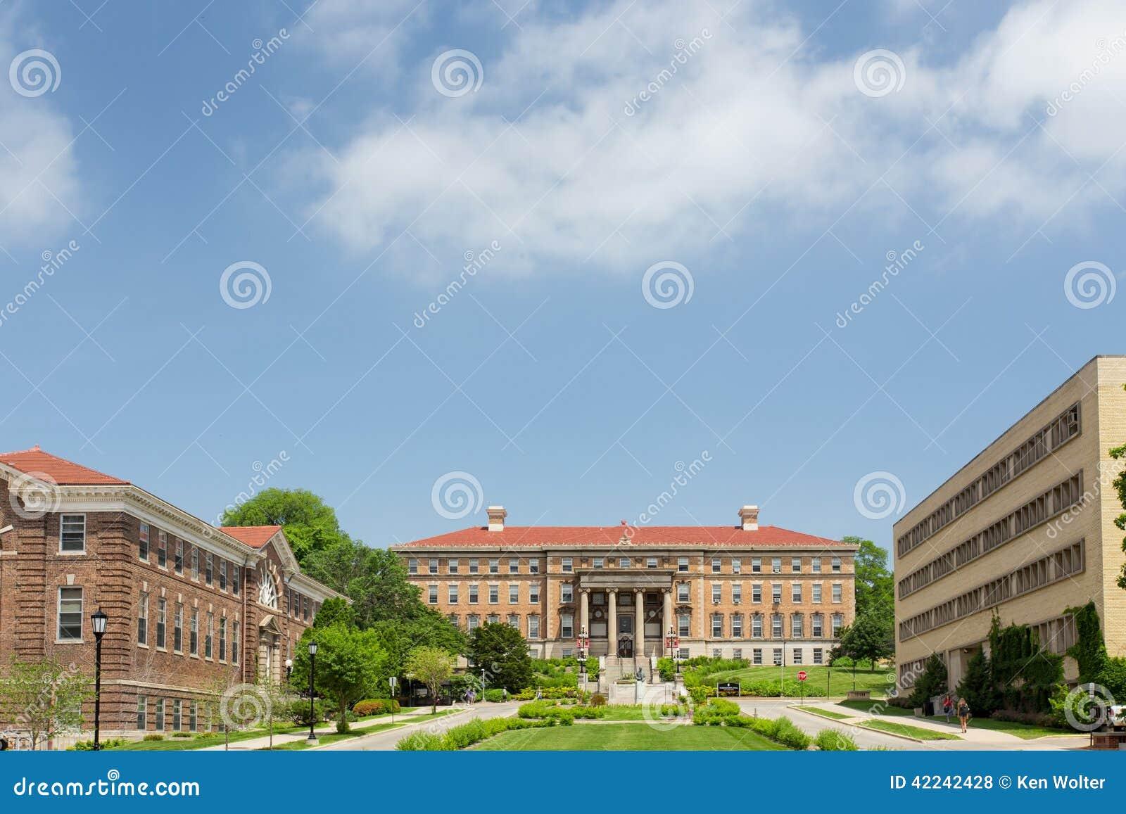 Henry Mall på universitetsområdet av universitetet av Wisconsin