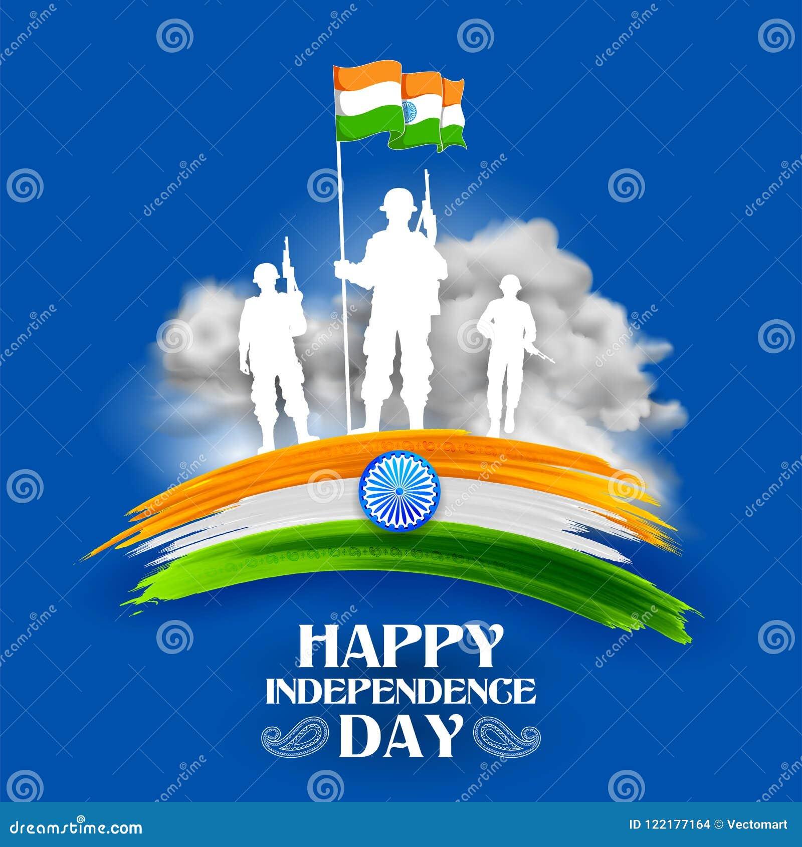 Herói indiano da nação do soilder do exército no orgulho do fundo da Índia