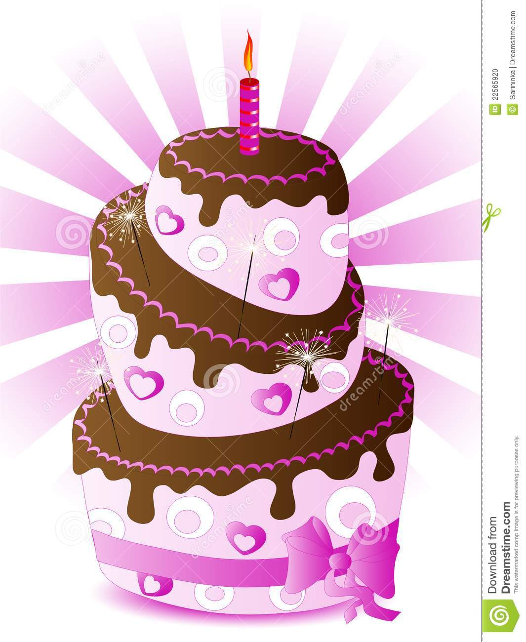 Cake Design For Monthsary : Her Birthday Cake Stock Photo - Image: 22565920