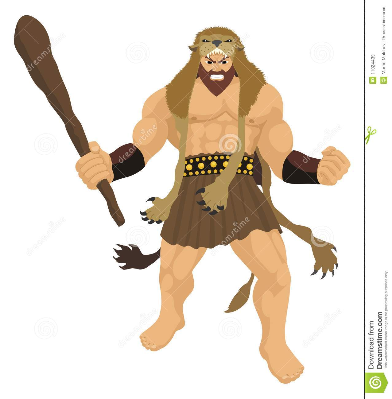 Royalty Free Stock Images Heracles On White Image 11024439