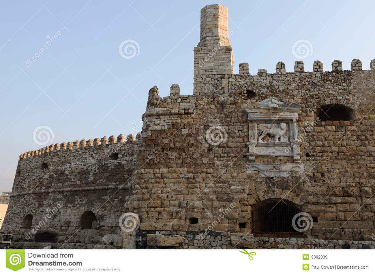 Heraklion castle wall