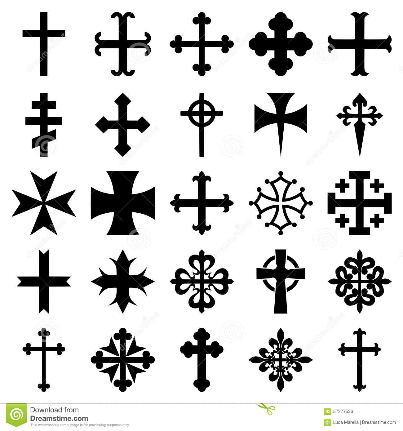 Background batik pattern stock photography image 803022 - Heraldic Crosses Icons Set Stock Vector Image 57277536