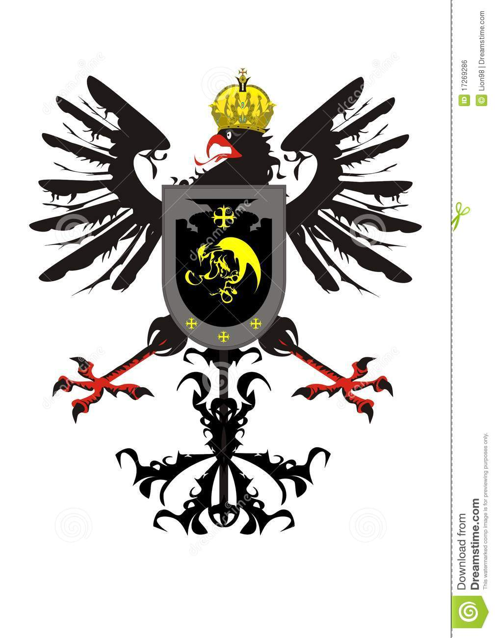 Car Shield Prices >> Heraldic Eagle With A Crown And A Shield Stock Vector - Illustration of emblem, badge: 17269286