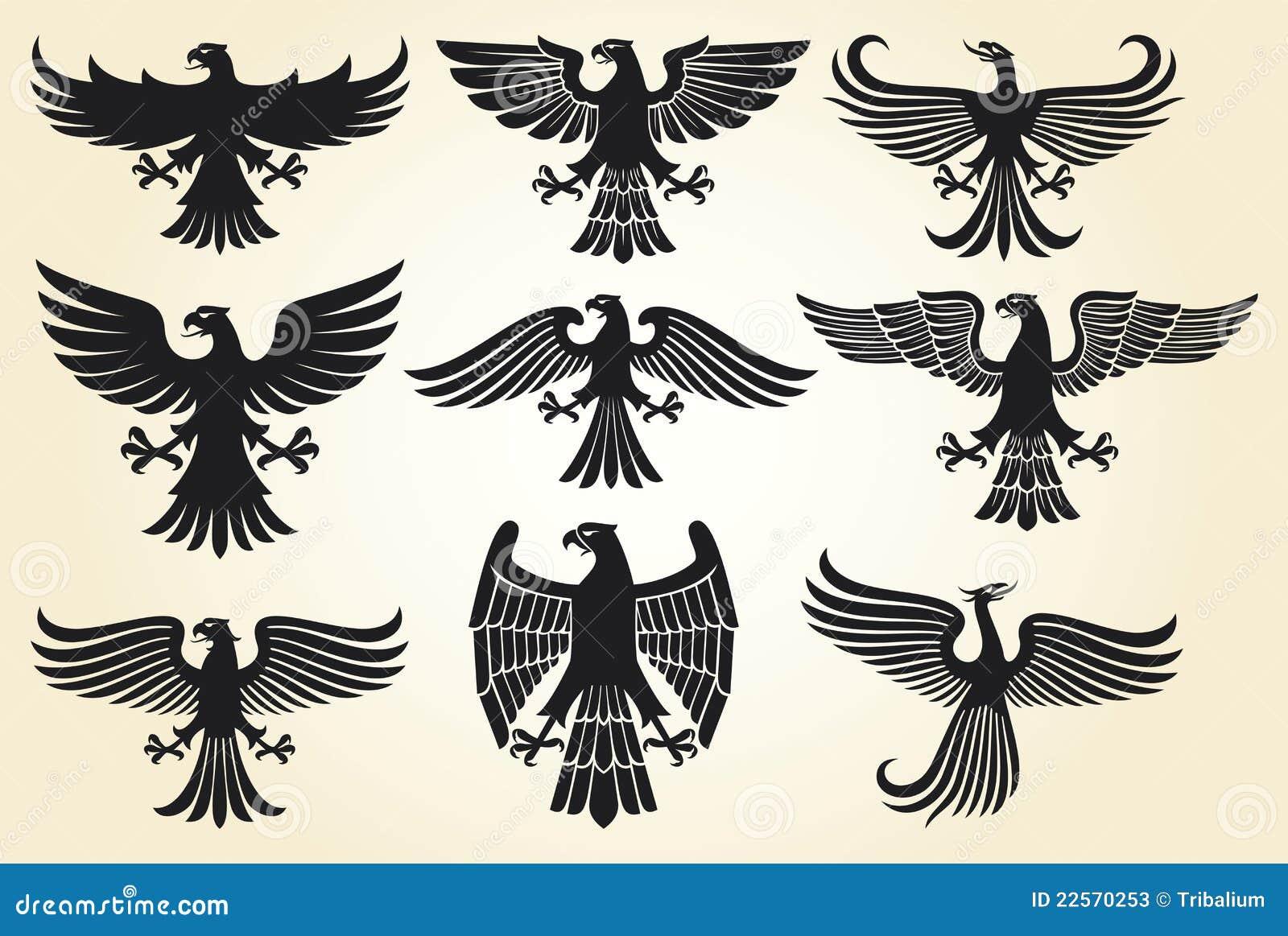 Heraldic Eagle Set Stock Photos - Image: 22570253