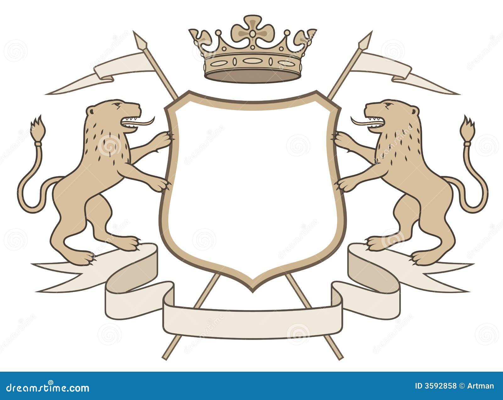 Lion With Crown Car Logo Heraldic emblem  crown  amp  lionsLion With Crown Car Logo