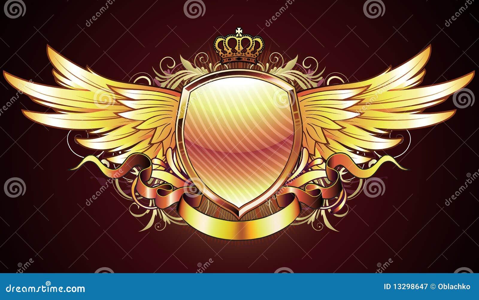 Heraldic Golden Shield Royalty Free Stock Photography - Image ...