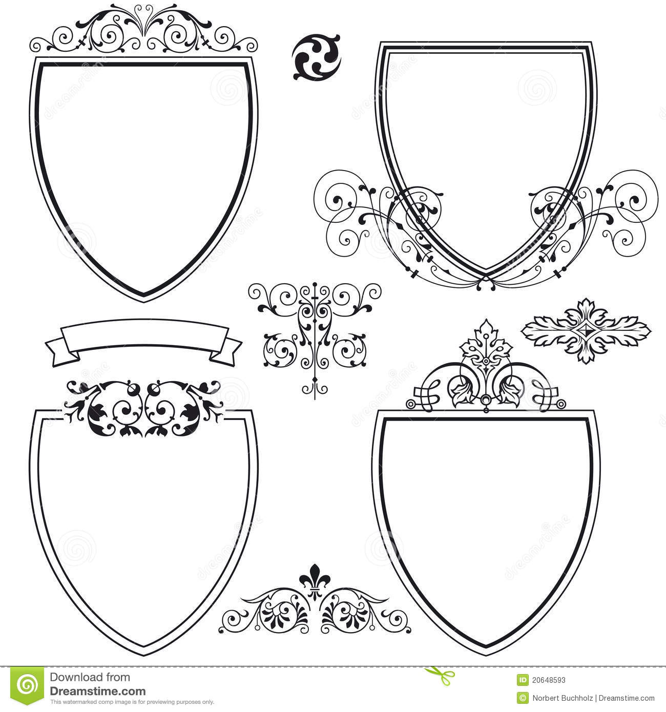 Tattoos additionally Set 01  plete Vector Set also Clipart 183123 in addition Soccer Crest Template further Currency Ornaments Vector Pack. on coat of arms shield shapes with wings