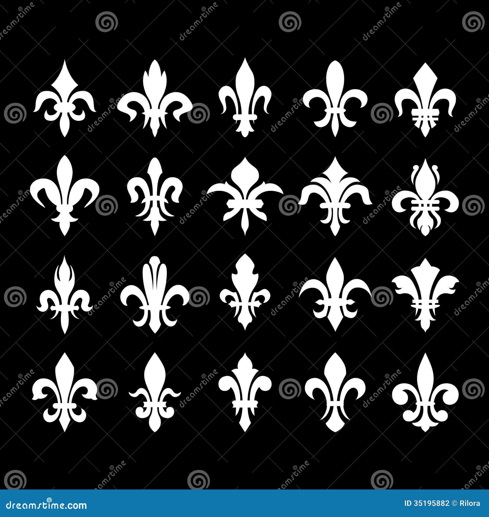 Heraldic symbols fleur de lis stock vector illustration of download comp izmirmasajfo